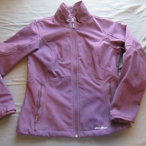 Womens Eddie Bauer Purple Soft Shell Jacket Sz M